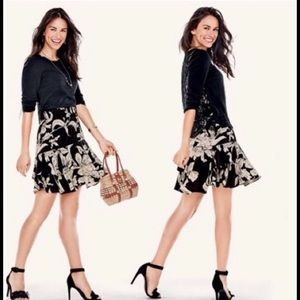 CAbi-isabel-ruffle-tiered-skirt-black-cream-floral
